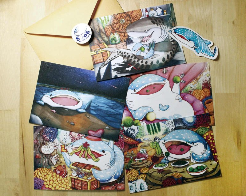 Tofu shark spot whale shark postcard package story screen 5 into