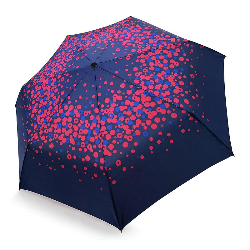 Safety Auto Open Close Umbrella - Pink Polka Dot