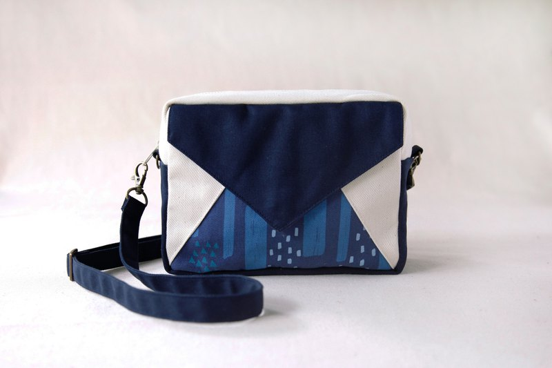 [passing envelope bag] - quiet blue