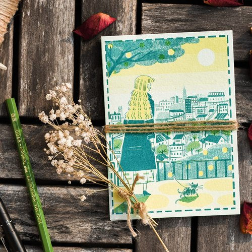 Send a sweet daily greetings postcard │ take a walk