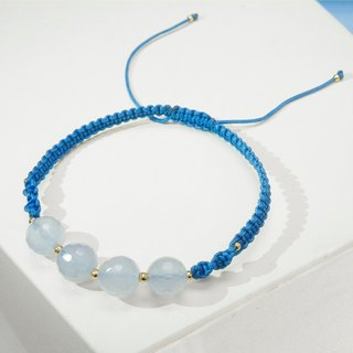 Edith & Jaz • Blue Chalcedony with Blue Cord Bracelet