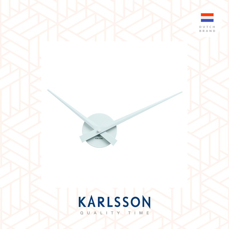Karlsson Wall clock Little Big Time White Mini