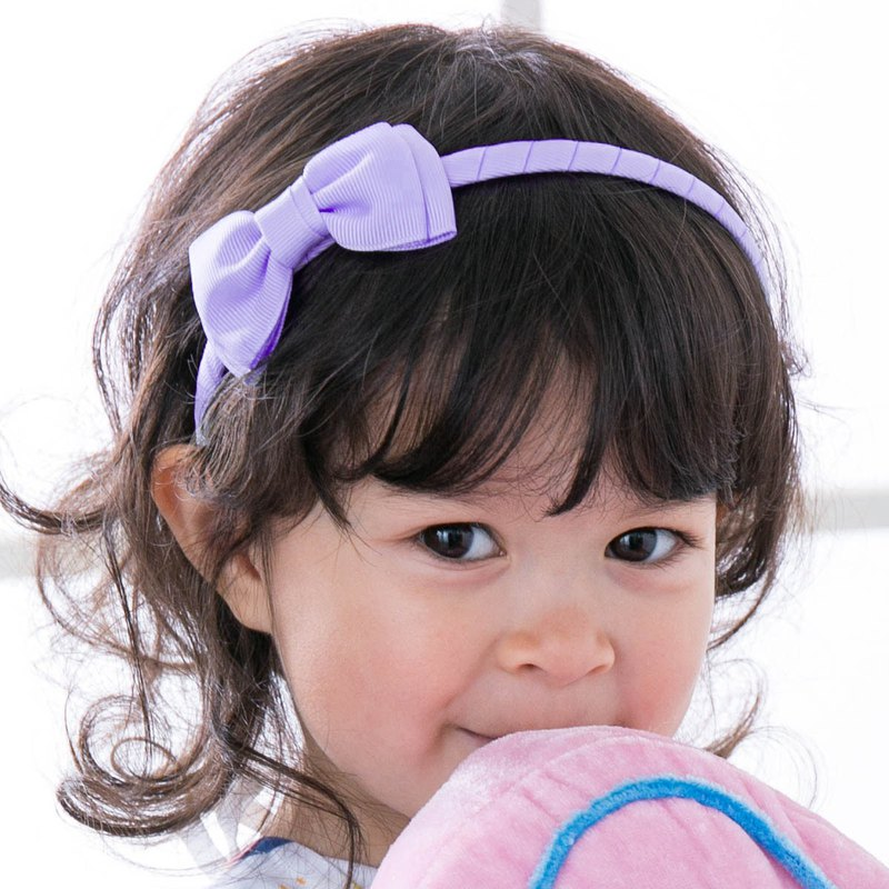 Double-layered small bow handmade headband all-inclusive cloth handmade hair accessories Bow-Lilac