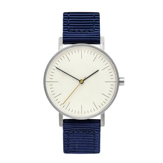 BIJOUONE B001 SILVERILVER WATCH ON NYLON STRAP, BLUE