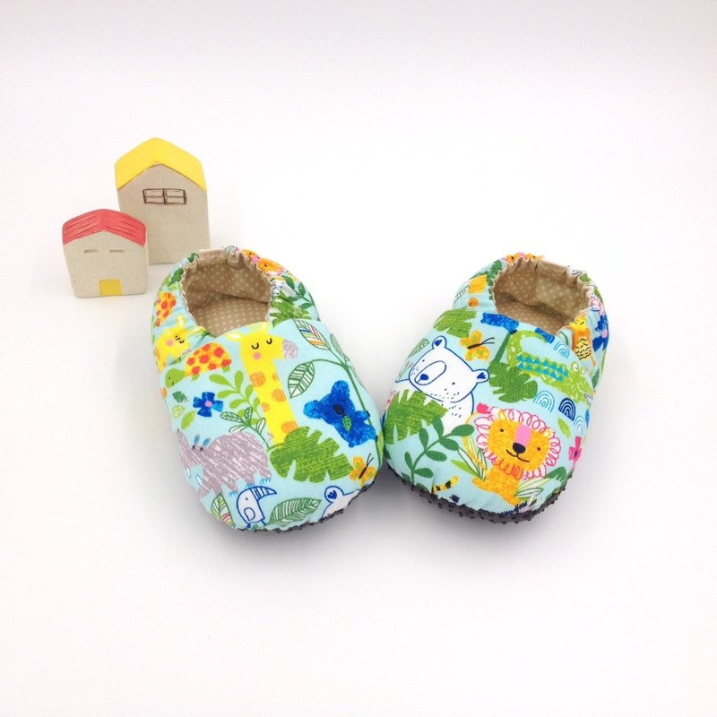 Animal tribe (light blue background)-toddler shoes/baby shoes/baby shoes
