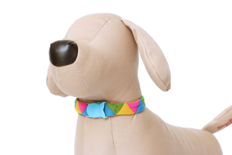 Multicolour pet collar