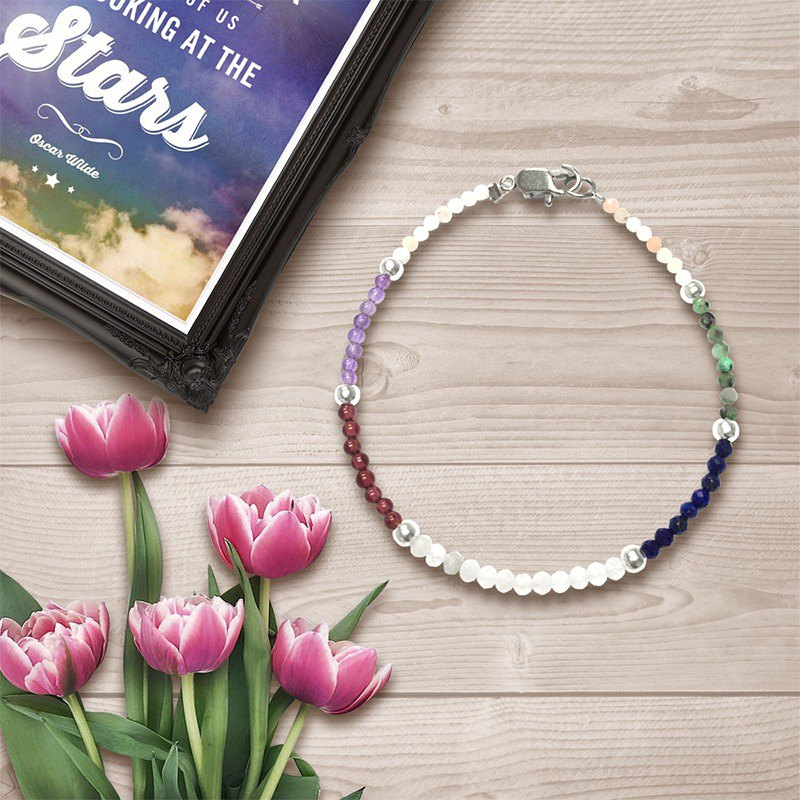 Rainbow Stone Bracelet | Stone Bracelet | Magic Love Bracelet | Birthstone