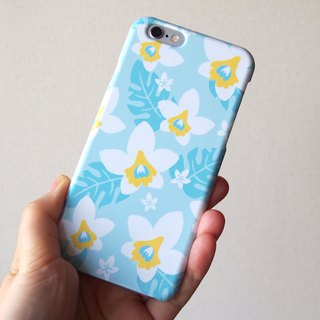 Plastic android phone case - Summer White Orchid -