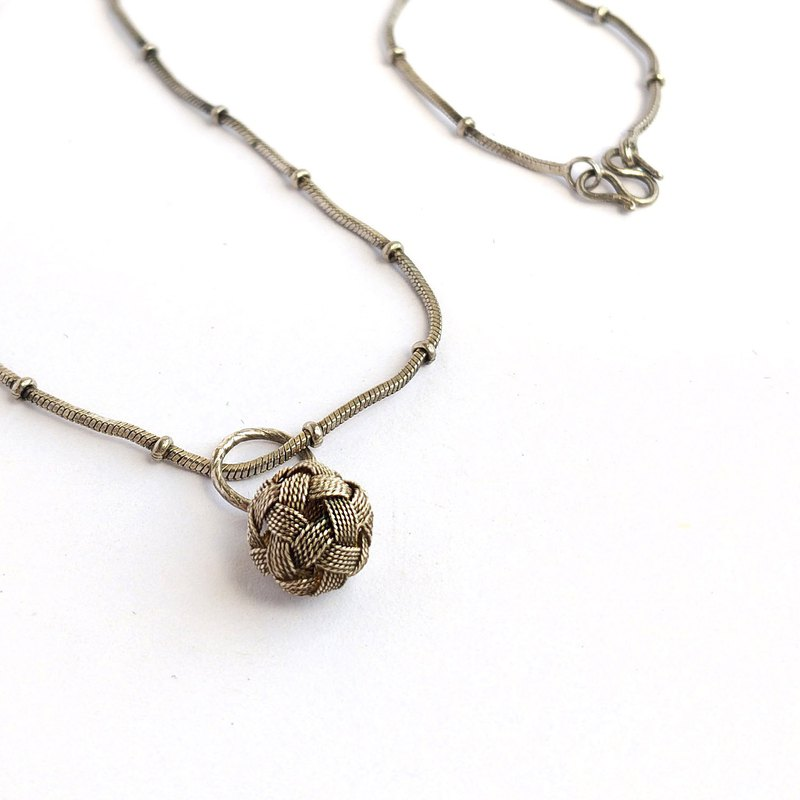 British Ari D.norman sterling silver woven necklace | British 925 silver British hand made