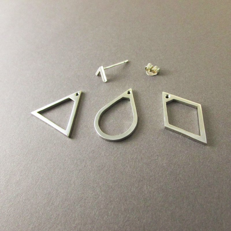 Geometric earring_geometry earrings mittag 925 silver limited edition designer hand made