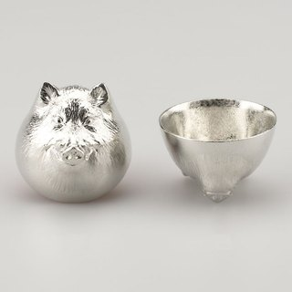 Pure tin zodiac shape cup (pig)
