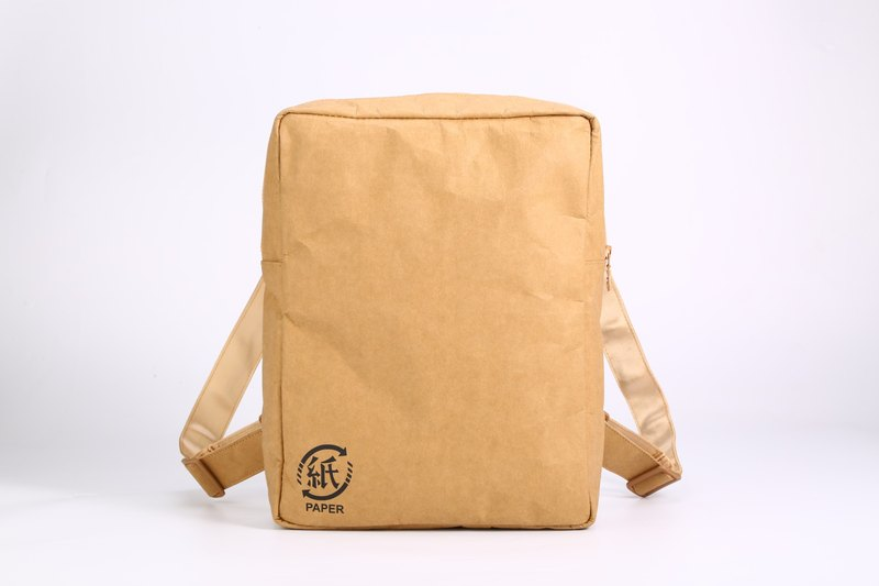 Paper bamboo often ARTZOO backpack (brown)