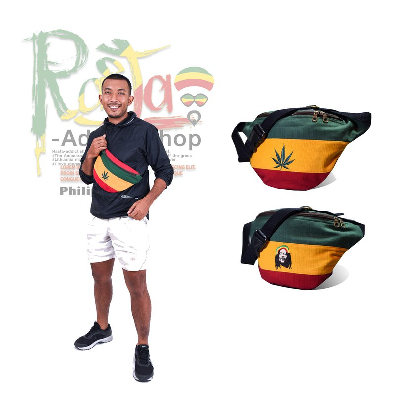 Weed Cotton Bag Waist Bag Reggae Jamica Fanny Pack
