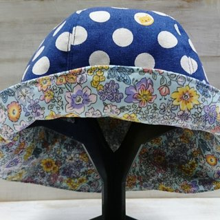 Custom-made - Little Yellow Dog Dot & Bird Flower Sketch Double-sided Cap (54cm)