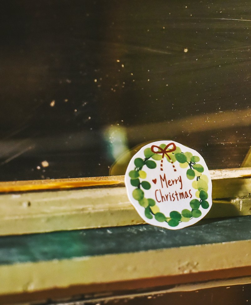 Christmas wreath stickers