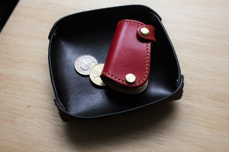 [Mini5] square leather storage tray (black)