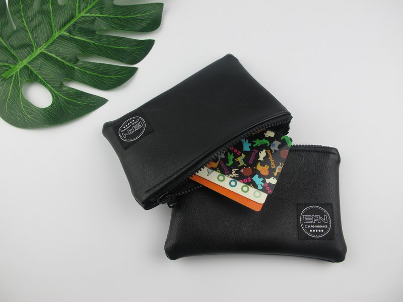 Simple black* coin purse/storage bag