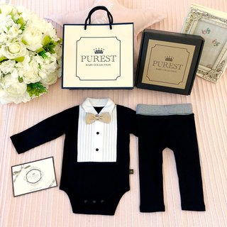 PUREST British Royal Bow Tie Gentleman [Black] Full Armed Gift Box Group / Mi Yue Gifts Preferred