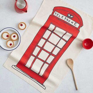 British Egg organic cotton bowl cloth British telephone booth