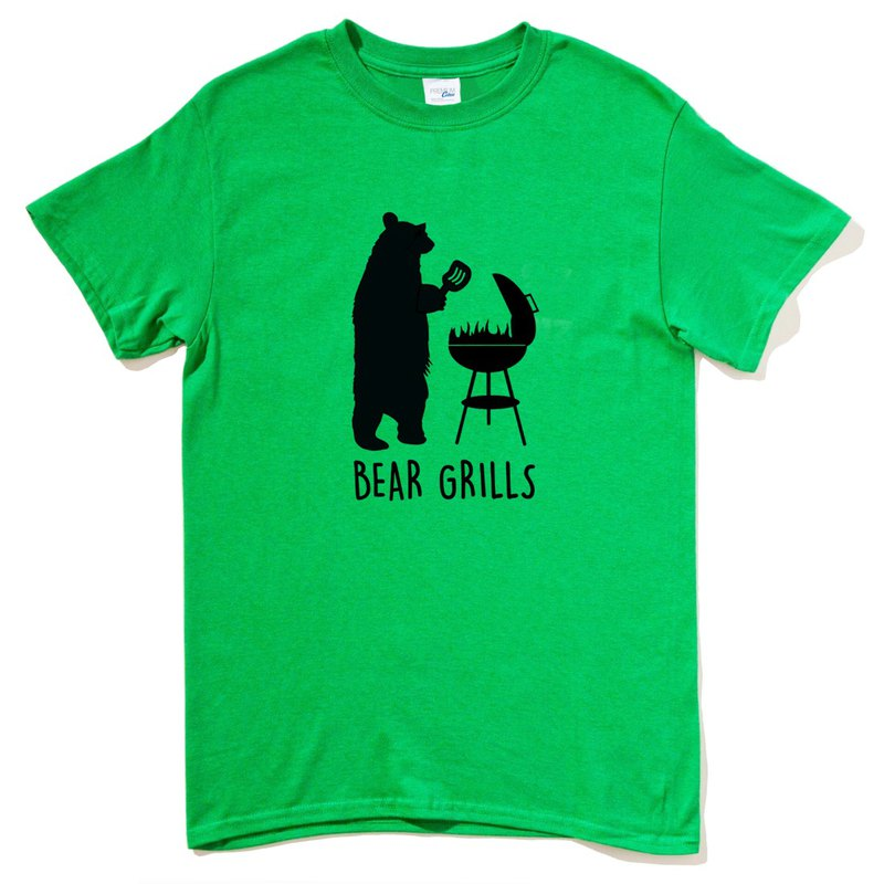 BEAR GRILLS GREEN T SHIRT