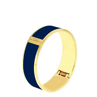 Solid color Prussian blue Cloisonne series solid color bracelet (gold) -11,500,159,015