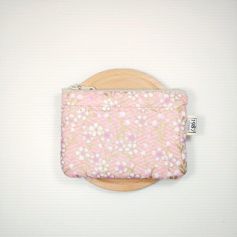 【春櫻-粉】 零錢包 手拿包 隨身包 拉鏈袋 聖誕交換禮物