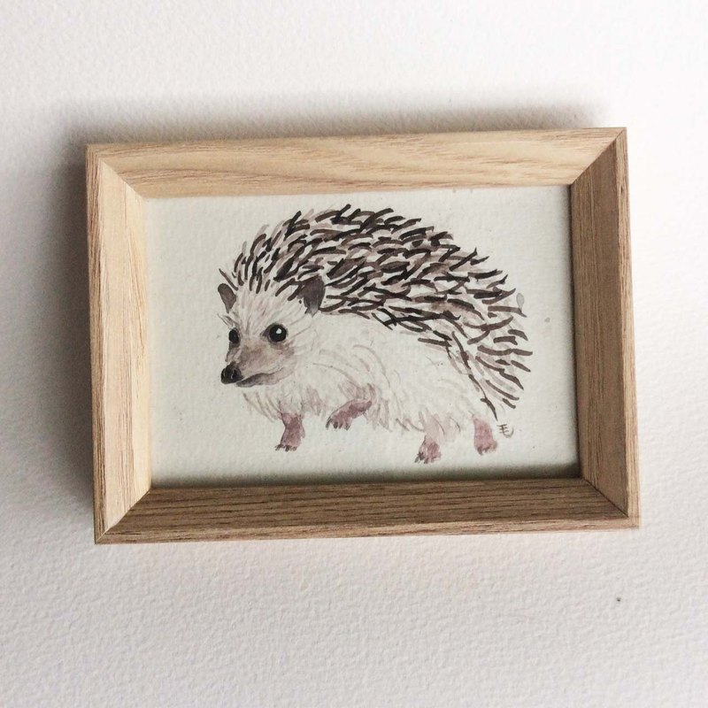 """Watercolor"" Hedgehog manuscript (with box)"