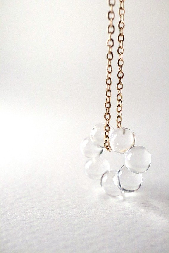 SETTE - Lampwork boro glass droplets necklace