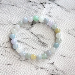 Journal-Smog Pure Natural Color Jade (Burma Jade) Fine Beads Bracelet Exclusive Item