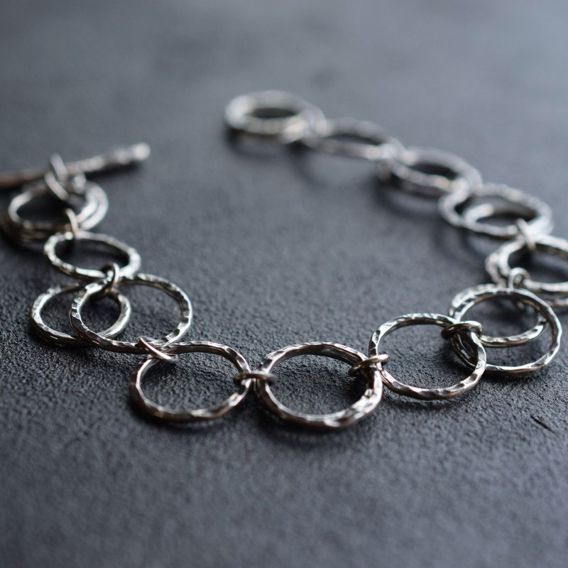 Bubble Ring -HANDMADE CHAIN BRACELET