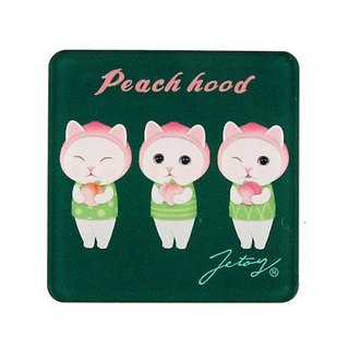 JETOY, Sweet Cat Founder Fridge Cat Magnet (4*4cm)_Peach hood J1707203