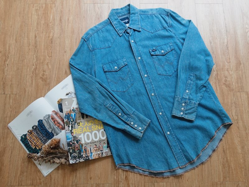 Vintage on / Wrangler Denim Long Sleeve Shirt no.69 tk