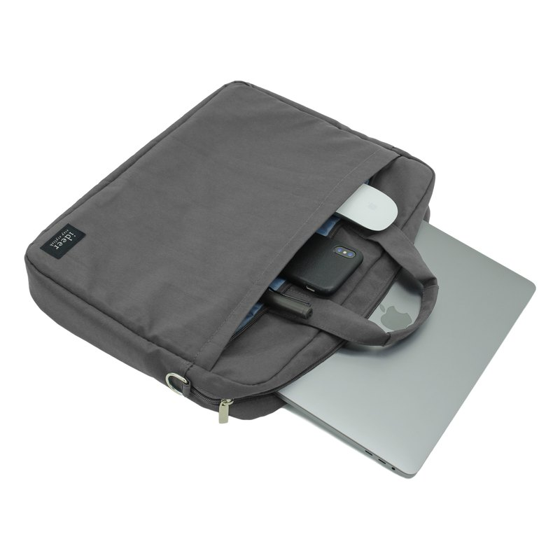 Gray water-repellent nylon ultra light pencil case 11-15.6 吋 notebook computer briefcase bag