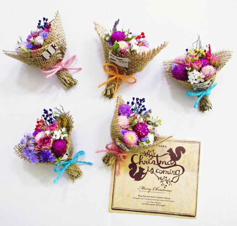 [Flower section - suction and suction phase printing - linen bouquet magnet] dry flower magnet