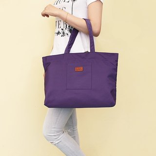LAPELI │ large capacity polyester handbag purple