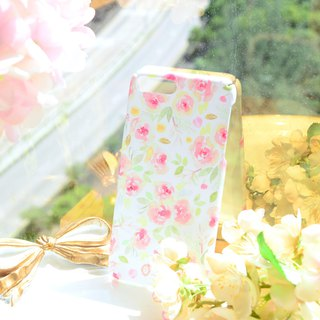 Original design - watercolor rose matte matte color mobile phone case