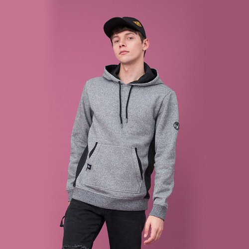 Mens Mesh-Knit Side Hoodies