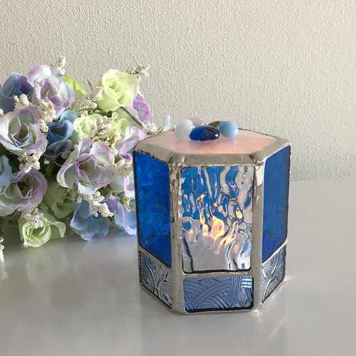 Sweet night LED candle holder Caribbean blue Bay View