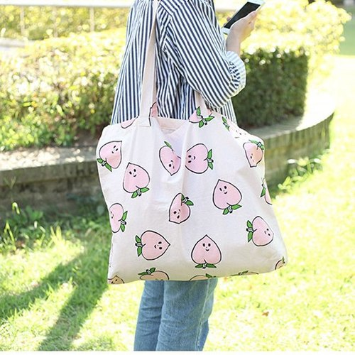Clearance Specials - Forest Cotton Shopping Bag - Miss Peach, LWK36708
