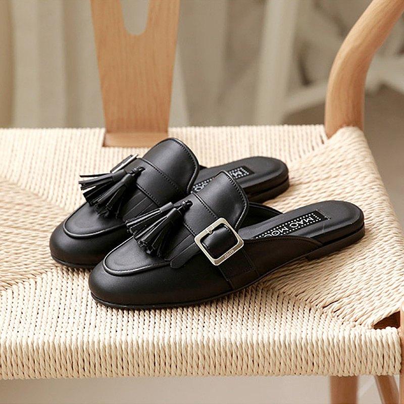 PRE-ORDER韓國人手製 MACMOC  Lumi BLACK 平底鞋