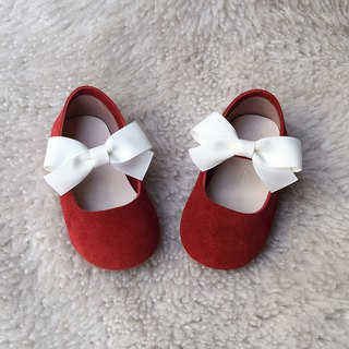 Red female baby toddler shoes girl gift baby shoes age gift baby gift moon gift box