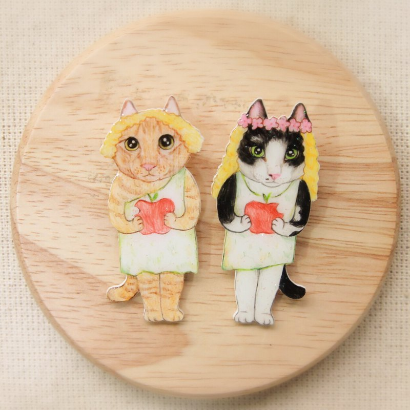 Adam meow and Eve meow pin*two*can be customized