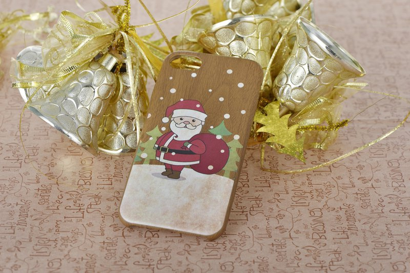 Santa Claus wood grain phone case - iPhone 6 6s 6 plus 7 7 plus 8 8 woodgrain phone case Phone case phonecase Christmas gift