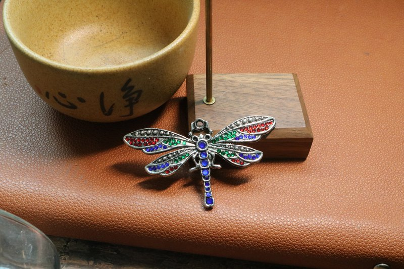 Antique dragonfly brooch with diamond aestheticism metal Brooch