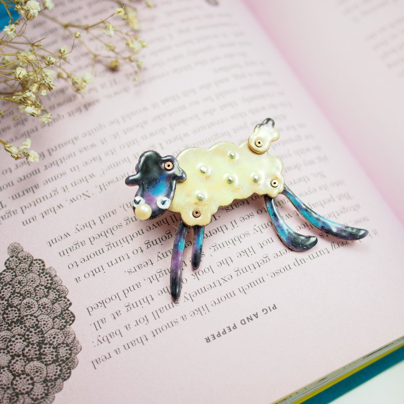 12 Zodiac 珐琅 jewelry series Mianyun sheep brooch