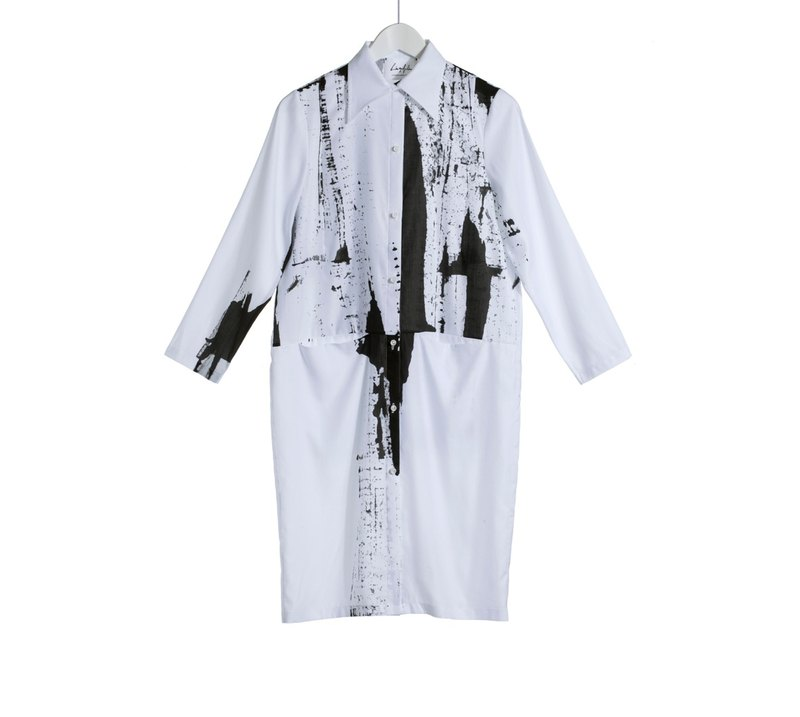 17 autumn and winter sale 16AW printing pocket shirt dress