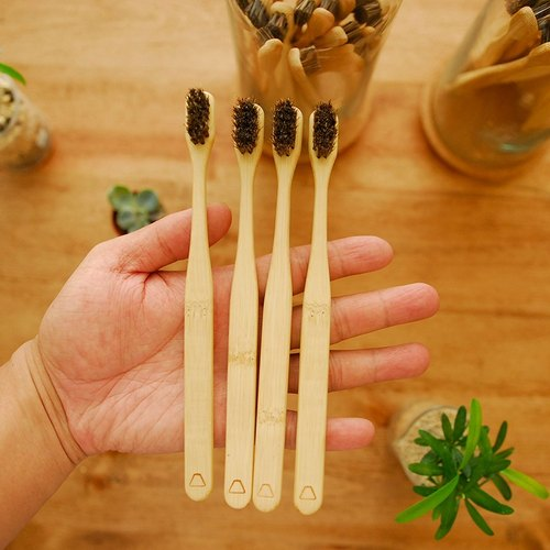 Love Addiction Gen Ma Ma Bamboo Toothbrush Custom Combination 4 Group Free Shipping