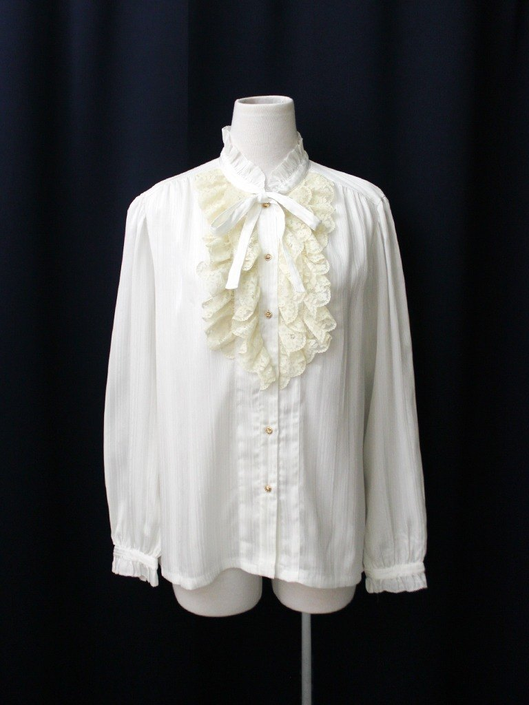 【RE0916T245】 early autumn Japanese palace retro wind lace collar white white ancient shirt