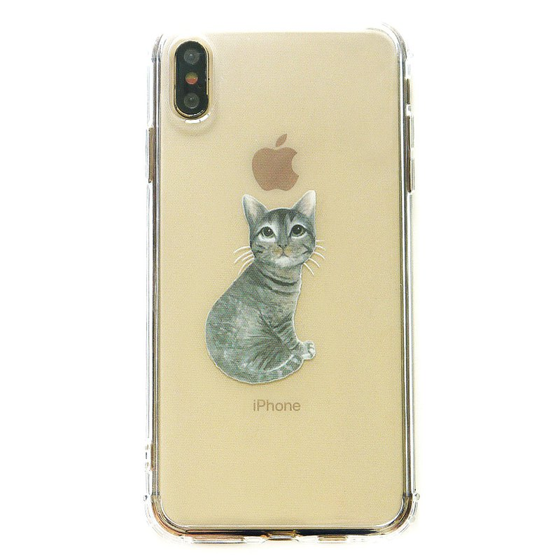 Spot | Black Tabby Cat - Mobile Shell | TPU Phone case Anti-fall Air Cap Shell iPhone