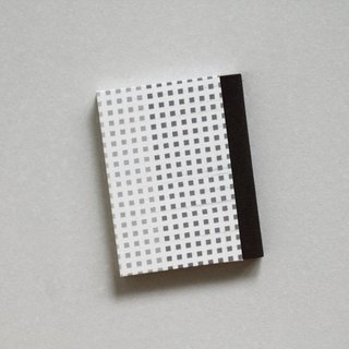 Sewn Board Bound Notebook with Small Square Pattern Covers - Light